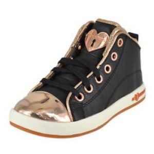 Sketchers Sneakers Black and Rose Gold